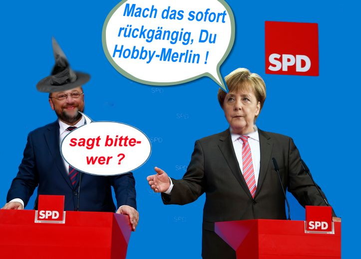 Satire Merkel - Schulz